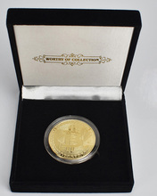 Golden Plated Bitcoin Coin with Gift Box Packaging  Metal Commemorative Cryptocurrency