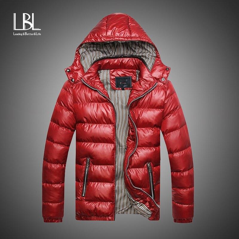 Waterproof   Parkas   Men 2018 New Winter Warm Down Jacket Casual   Parka   Male Jackets Casual Slim Fit Hooded Windbreaker Overcoat Men