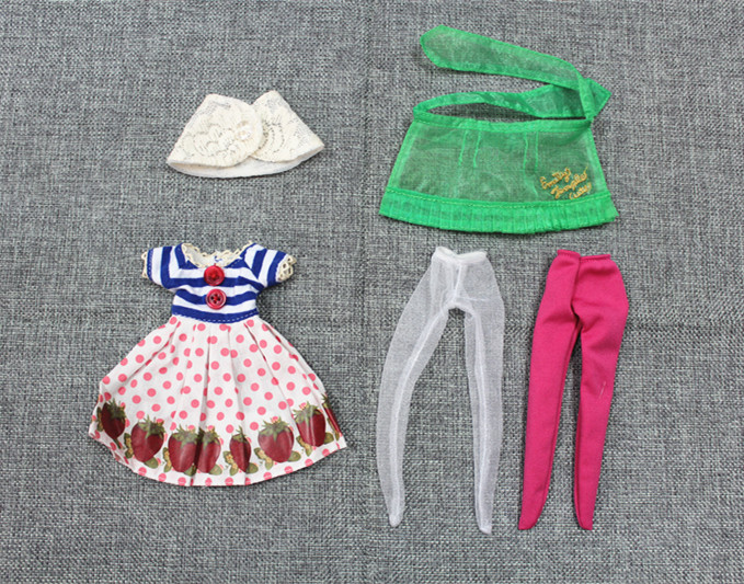 Blygirl Blyth dollClothes strawberry skirt blue and white jacket apron and shawl a total of 5 pieces prem chand cytoarchitecture and neuronal types in forebrain of strawberry finch
