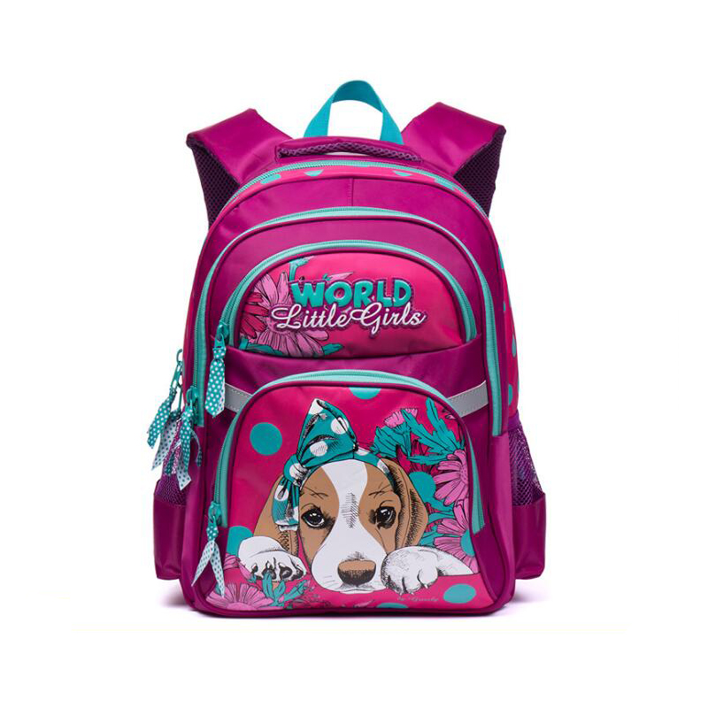 72516f22cdbb Kids Waterproof Backpacks Children Orthopedic School Bags for Girls Boys  cartoon bow dog pattern Backpack Girl Mochila Escolar-in School Bags from  Luggage …