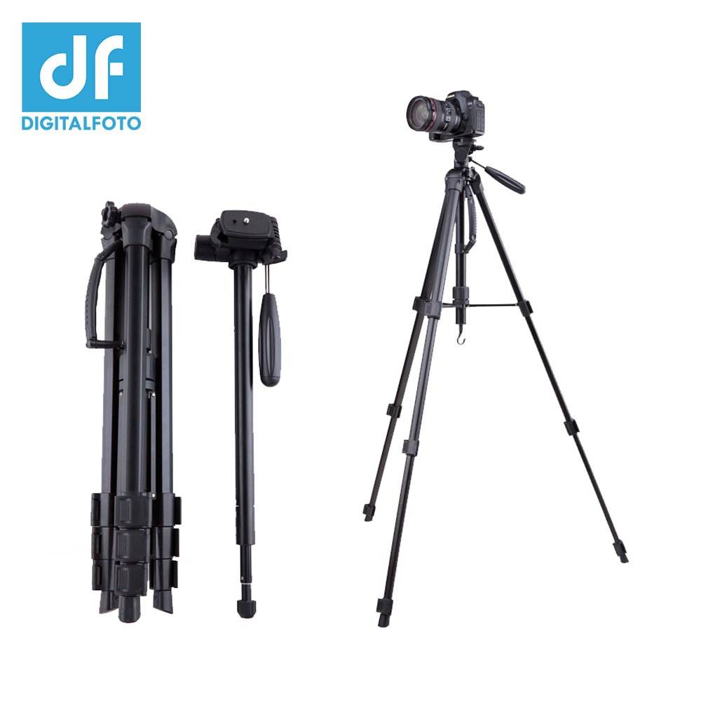 цена на SAB264 5KG bear aluminium monopod stand professional camera tripods for Canon Nikon video dslr tripod 360 Fluid head