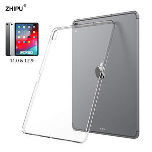 Transparent Cover Case For Apple iPad Pro 11 & 12.9 2018 Slim Silicon Soft TPU Tablet Computer Case Absorption For iPad Pro 11