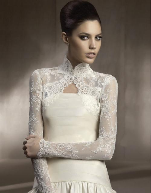 Barato! Venda quente branco marfim manga longa de casamento jaquetas de noiva Bolero acessórios do casamento frete grátis