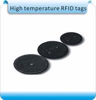 100 pcs Em Massa de produção 13.56 MHz IC tag da lavanderia de buracos  etiquetas de roupa  lavandaria etiquetas de alta temperatura  ISO14443A ou 15693