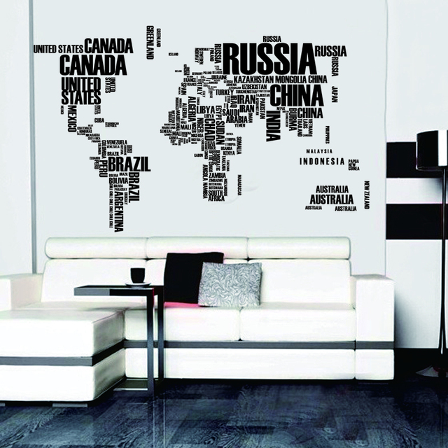Large size removable pvc world map wall stickers vinyl decal art large size removable pvc world map wall stickers vinyl decal art mural home decor wallpaper world gumiabroncs Gallery