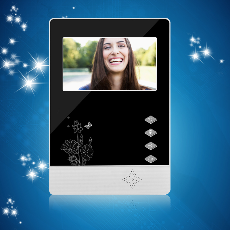 все цены на 4.3'' TFT Color Video Door Phone Indoor Unit Monitor Screen Video DoorBell Without IR Outdoor Camera For Video Intercom System онлайн