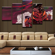 5 Panel Naruto Animated Cartoon Characters Modular Picture Painting Wall Art Home Decor Living Room Canvas Print Modern
