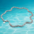 Genuine 925  sterling silver Retro  Link Chain Men's Necklace, trendy & fashion jewelry for men