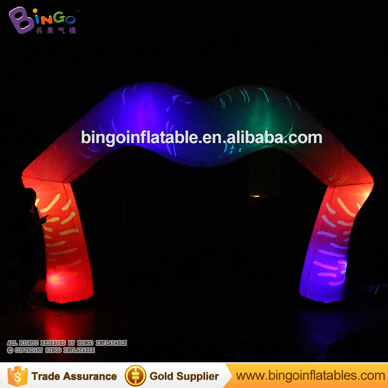 Good Quality Lip Shaped Inflatable Led Arch Balloon / 5 Meters Inflatable Kiss Me Lip Arch with LED Lights In NightGood Quality Lip Shaped Inflatable Led Arch Balloon / 5 Meters Inflatable Kiss Me Lip Arch with LED Lights In Night