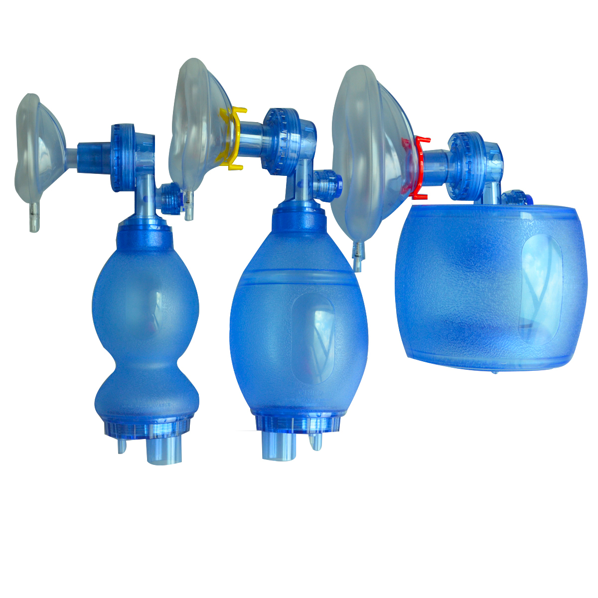 Ръчен ресусцитатор за еднократна употреба с PVC торбичка с торбичка за кислород Калъф за лице за маска за възрастни или деца
