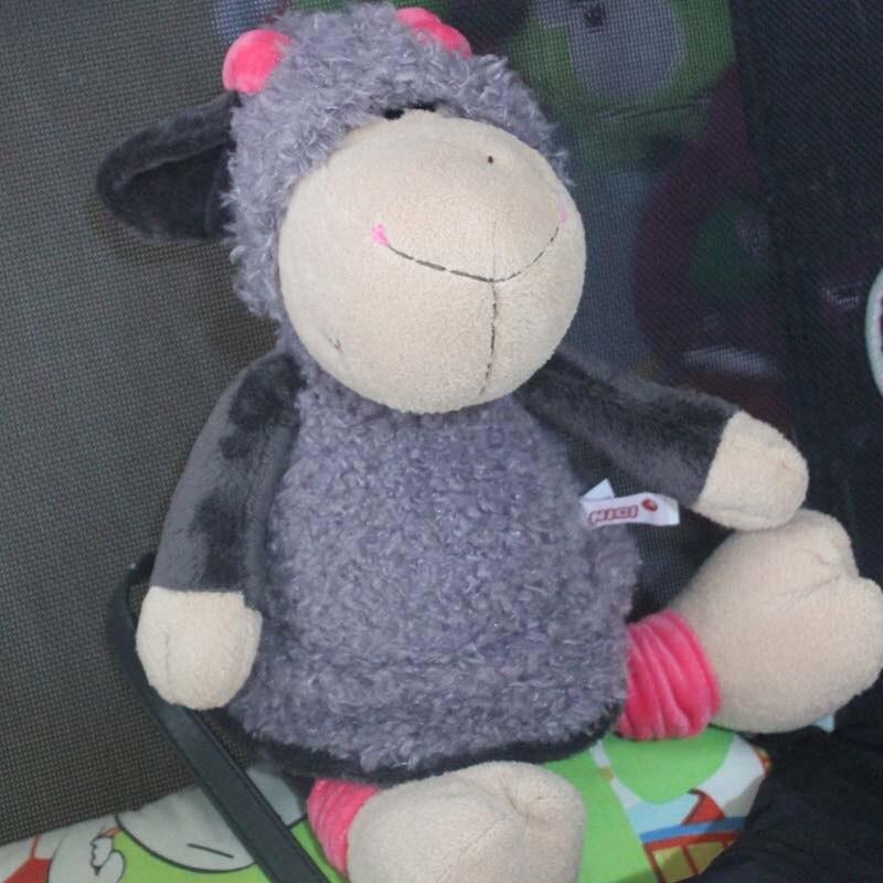 35cm Lucy Sheep Plush <font><b>Toys</b></font> <font><b>Lovely</b></font> Jolly Mah Lamb <font><b>Wear</b></font> Gray <font><b>Skirt</b></font> for Kids Birthday Gift