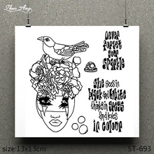 ZhuoAng Girl like bird design transparent clear stamp scrapbooking rubber seal paper craft card production