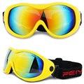 Ветрозащитные однообъективные зимние уличные спортивные очки для взрослых и детей  лыжные очки  снежные очки UV400  снегоходы 12 цветов