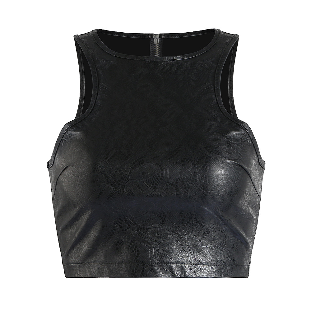 2018 New Women Short Crop Top Fetish Style Clubwear -5952