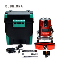 EU Standard Plug CLUBIONA 5 Lines 6 Points Laser Level 360 Degree Rotary Cross Laser Line