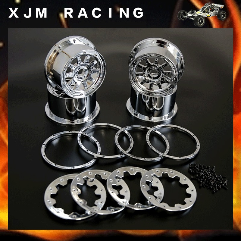 Chrome Wheel Hubs Set Gen 3 For 1 5 Hpi Baja 5b Ss Rc Car Parts