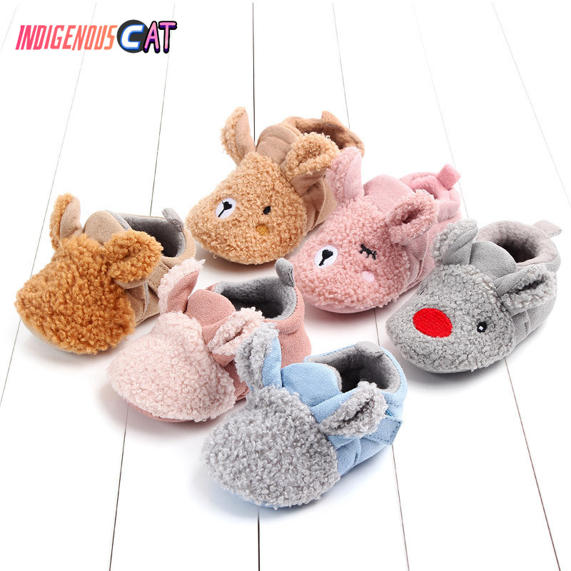 Baby Shoes Poodle Non-Slip Winter with Shoe-Package Study Home-Furnishing Keep-Warm Lovely