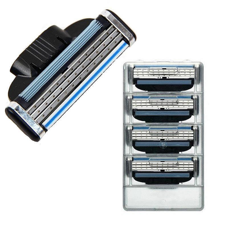 3 Layer 8pcs/lot  Razor Blades For Men Gile Shaver Blades Beauty Proglide Shaving Blades Refills Cartridge Gilette Blade