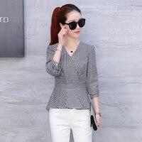 Women Shirts Special Offer Full Casual Body New Fall 2017 Korean Slim Plaid Coat Female Collar