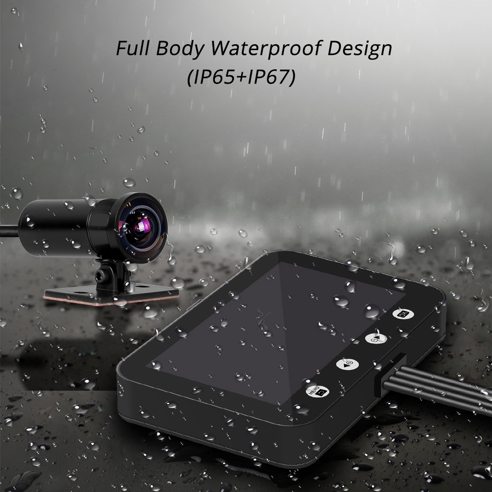 Image 5 - SYS VSYS P4.5 WiFi Motorcycle Dash Cam 1080P Dual Lens Front & Rear 4.5'' LCD Waterproof Motorcycle Camera Recorder DVR System-in DVR/Dash Camera from Automobiles & Motorcycles