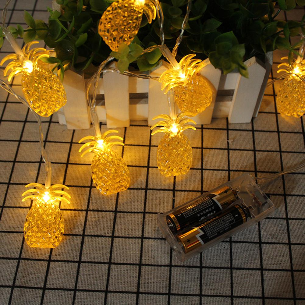 LumiParty Home Decoration Pineapple 3M LED String Lights For Room Wedding Decoration Indoor Lighting