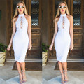 Women Sexy Bandage Club Bodycon Sleeveless Cocktail Party Tie Up Dress