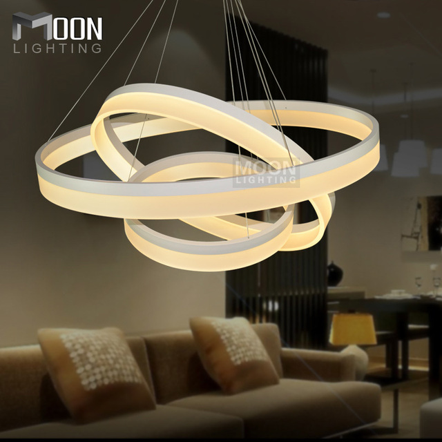 FÜHRTE Kronleuchter Lichter Acryl Glanz Led Licht Lampe 3 Ringe D800 + 600 +