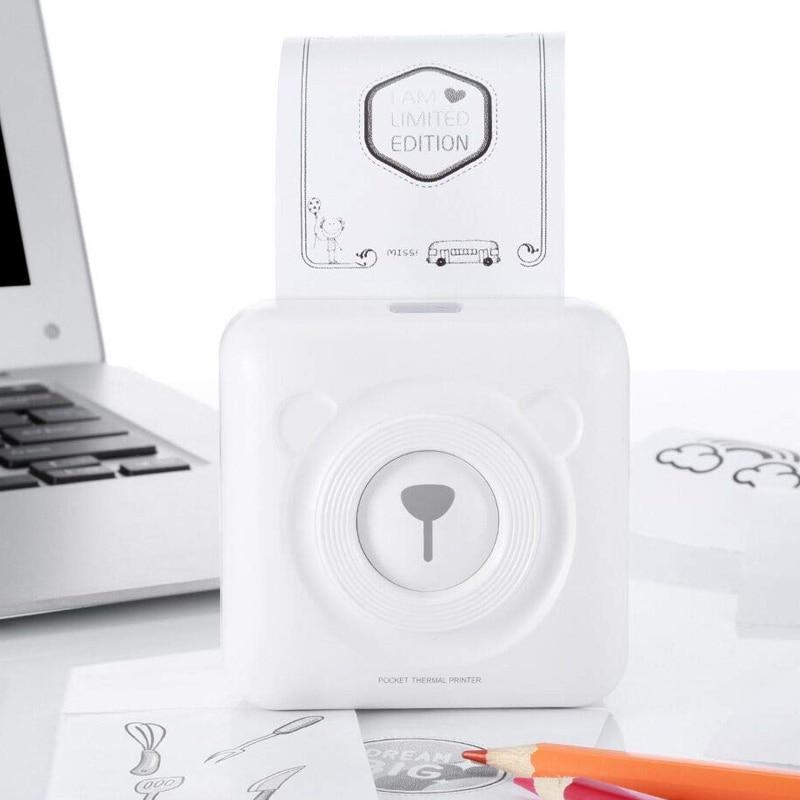 New Hot A6 PeriPage Mini Thermal Printer Paper Photo Pocket Printing Wireless Bluetooth Printers