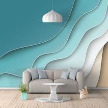 Фото обои современный скандинавский стиль 3D абстрактная линия фрески гостиная спальня Искусство домашний декор фон стены ткань обои