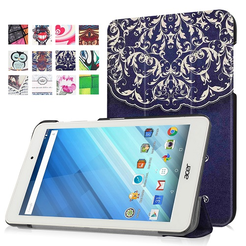 Slim triangle stand PU leather cover case stand case cover for 2016 Acer Iconia One 8 B1-850 8 tablet+free gift candy colors plastic pu leather full body case stand design for acer iconia a3 a20