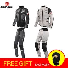 SCOYCO Summer Motorcycle Jacket racing jersey clothing protective Gears Clothing Armor Motocicleta Night Reflective