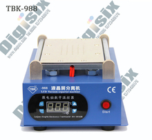 Newest 7 inch Lcd Separating TBK-988 With Built-in Vacuum Pump Touch Screen Separator Machine  For Mobile Phone Repairing 7 inch lcd screen separator machine tbk 988 built in vacuum pump for mobile phone repairing