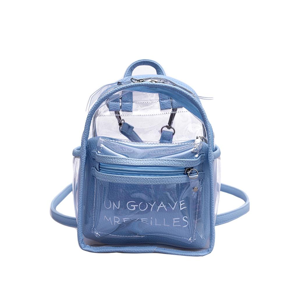 Women Backpack PVC Shoulder Bags Travel Bookbag Schoolbag Street Satchel Handbag