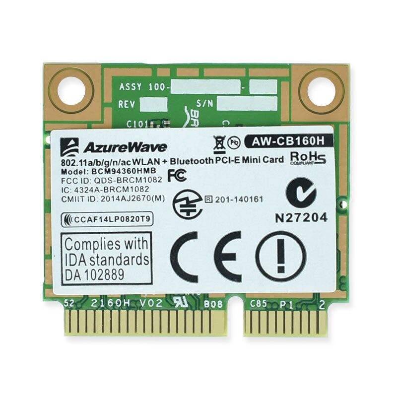 BCM94360HMB 802.11ac 1300 M 2.4 & 5G double-bande BCM94360 AC Bluetooth 4.0 WiFi carte sans fil mieux que BCM94352HMB