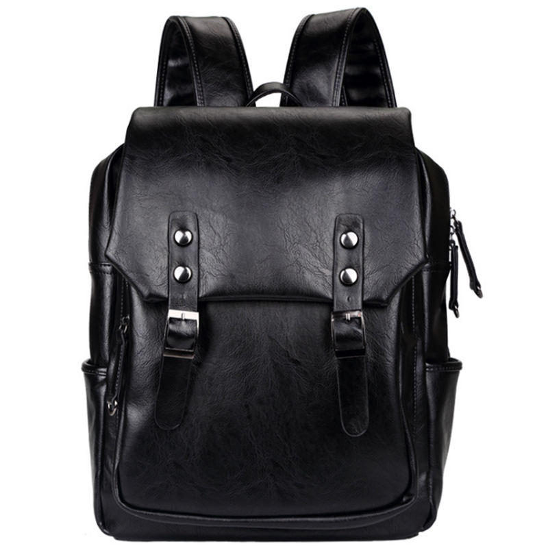 LEVELIVE Vintage Backpack Men School Bags for Teenager Mens Leather Laptop Backpacks Waterproof Bagpack Male Travel Shoulder Bag