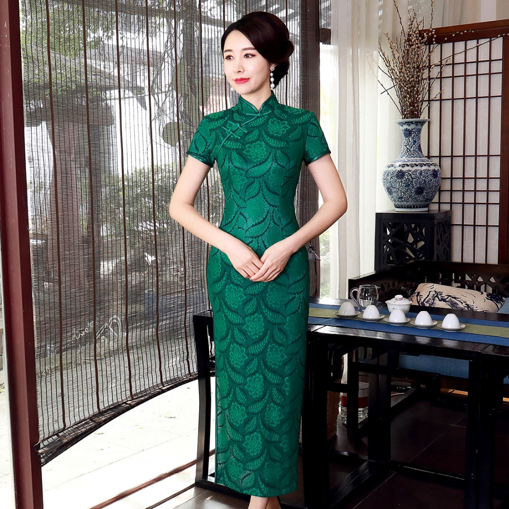 Vintage Print Flower Lady Qipao Sexy Oversize 3XL 4XL Women Chinese Style Cheongsam Lace Vestidso Evening Party Dresses S-36