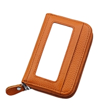 Leather Function 12 Bits Card Case Business Card Holder Men Women Credit Passport Card Bag ID Passport Card Wallet