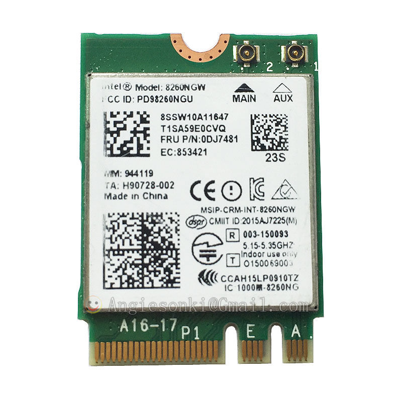 8260NGW WLAN Card 8260 867Mbps NGFF Wifi +Bluetooth 4.2 Intel 8260AC for IBM lenovo Y700 T460 T560 X260 P50 Yoga 700
