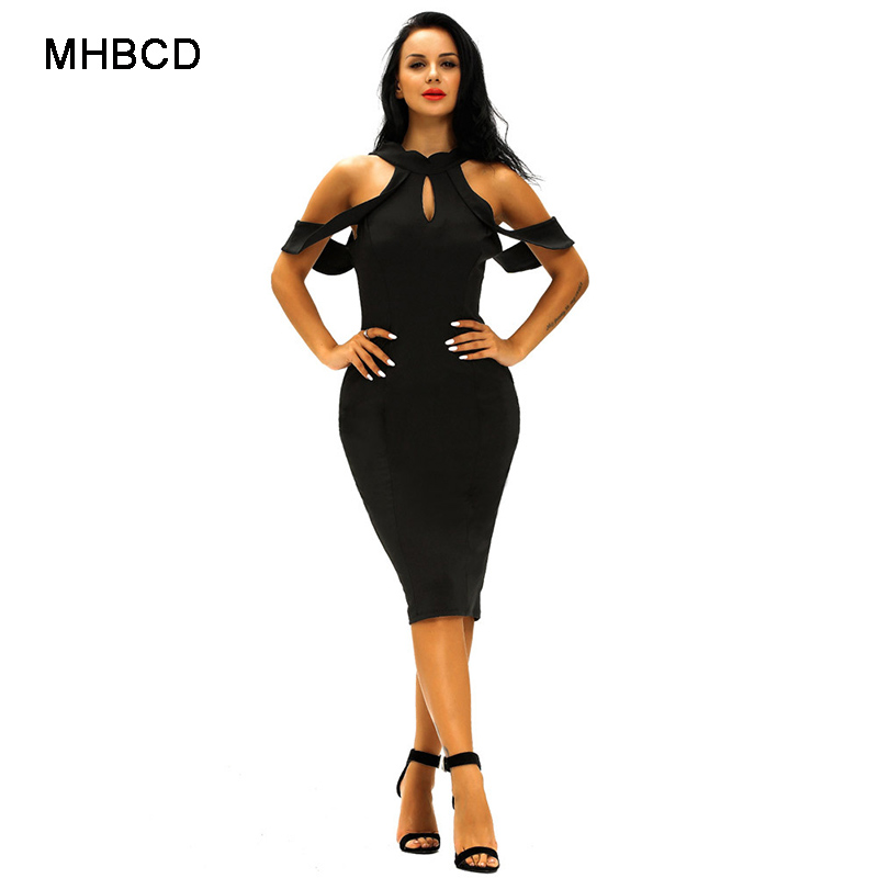 MHBCD Summer Sexy Club Halter Vest Dress Women Fashion Hollow Out Party Beach  Office Plus Size Dresses Ukraine Casual Clothes-in Dresses from Women s ... 8722ec4ef6d3