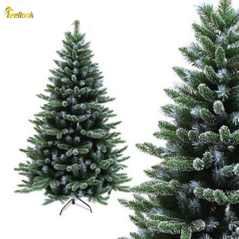 Teellook 1,2 м 3,0 м Снежинка шифрование смешанные пять пальцев Автоматическая Рождественская елка Рождество отель украшения для дома - 2