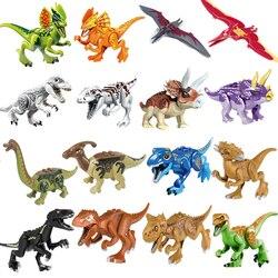 1 Uds. Dinosaurios Legoing Jurassic World 2 Tyrannosaurus Rex bloques ladrillos mi juguetes figuras animales para regalo de niños