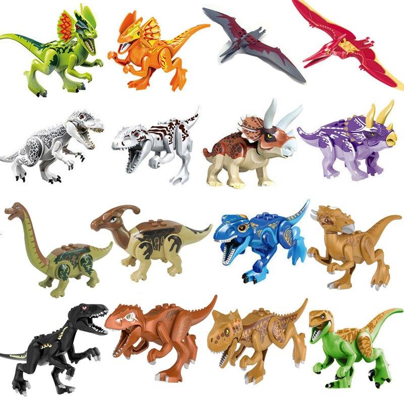1 pcs Jurassic World 2 Blocchi di Costruzione di Mattoni Dinosauri I Miei Animali Figure Giocattoli Per Il Regalo Dei Bambini