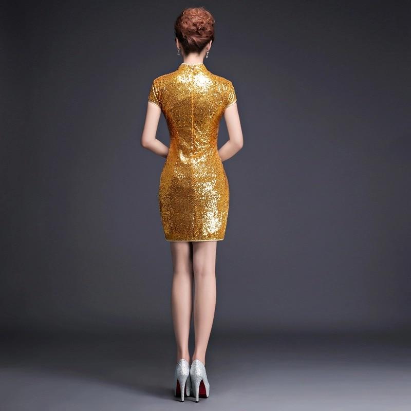 ханымы қысқа алтын соқпақ ресми кешкі - Ұлттық киім - фото 2