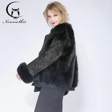 2018 fox fur jacket, both sides wear lady coat, fox fur fur locomotive clothing