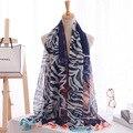 2015 nueva cabeza del tigre de gasa bufandas bufanda bufanda de La impresión de estilo Europeo y Americano, niza mujeres pashmina.