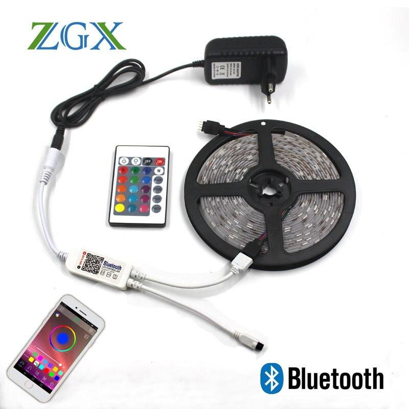 Bluetooth RGB LED Streifen SMD 5050 5 Mt 10 Mt 15 Mt Decor ip neon Lichter Licht lampe band tape controller DC 12 V adapter set wasserdicht