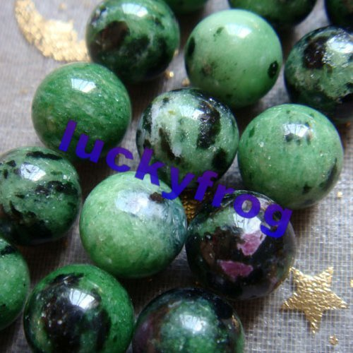 Hot 10mm 38pcs/lot Natural Zoisite round Loose Beads wholesale Free Shipping