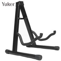 Black Metal Musical Guitar Folding Guitar Stand Bass Holder Practical Accessories Guitar Display Stand Portable Foldable Mount