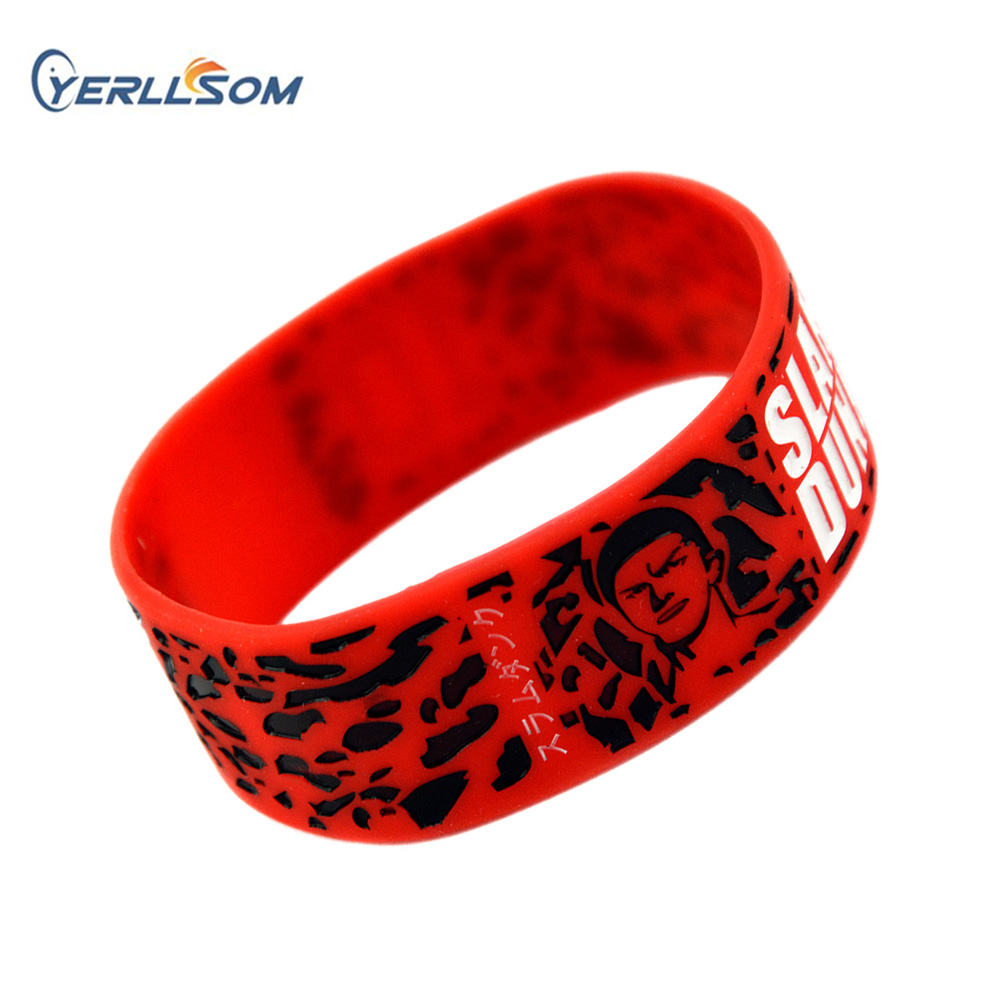 YERLLSOM 100PCS Lot 1 inch rubber bracelets silicone wristbands with personal logo for gifts YS060501