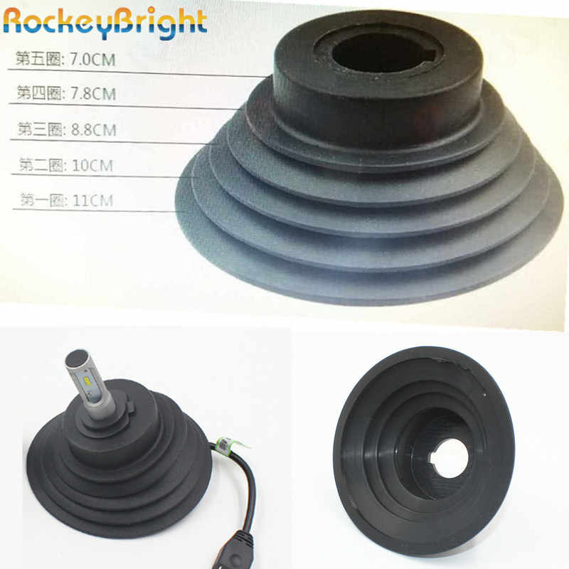 Rockeybright 1pc H4 H7 H8 H11 9005 9006 HID LED Headlight Car Dust Cover Rubber Waterproof Dustproof Sealing Headlamp Cover Cap